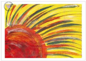 Art Greeting Card - Sun Dreams
